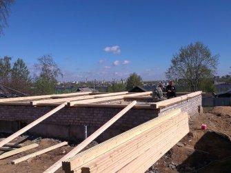Первый этап строительства дома из профилированного бруса