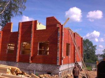 Строительство деревянного дома из профилированного бруса