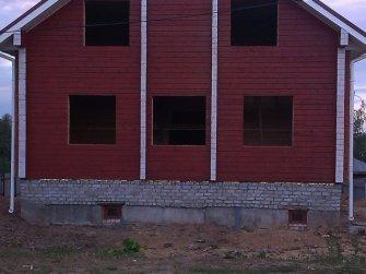 Выполнена окраска брусового дома