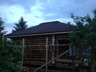 Строительство бани из рубленого бревна в Московской области фото 13