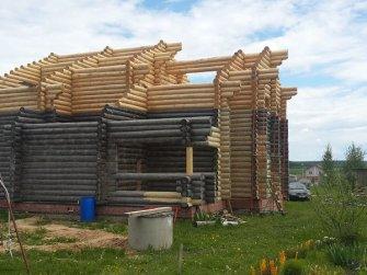 Достройка бревенчатого рубленого дома фото 12