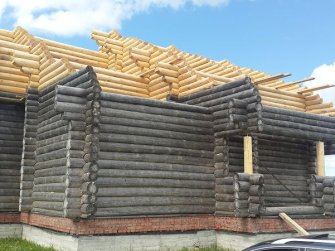 Достройка бревенчатого рубленого дома фото 14