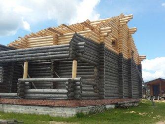 Достройка бревенчатого рубленого дома фото 13