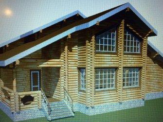 Рабочий эскиз деревянного дома
