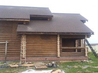 Строительство бревенчатого дома в Московской области