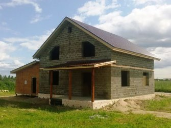 Строительство дома из арболита фото 17