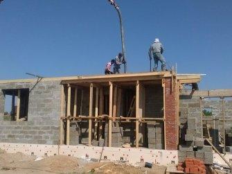 Строительство дома из арболита фото 7