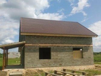 Строительство дома из арболита фото 18