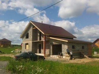 Строительство дома из арболита фото 15