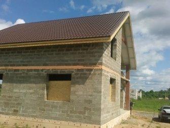 Строительство дома из арболита фото 19