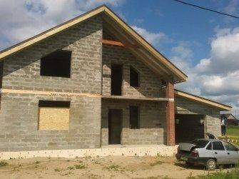 Строительство дома из арболита фото 20