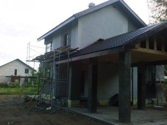 Строительство дома из газобетона фото 26