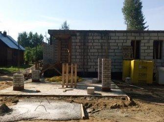 Строительство дома из газобетона фото 19