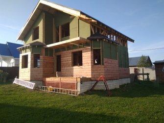 Устройство вентилируемого зазора с финальной облицовкой каркасного дома имитацией бруса фото 2