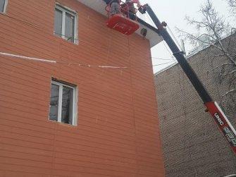 Монтаж водосточной системы офисного здания