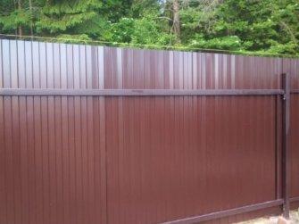 Забор из профилированного листа С8